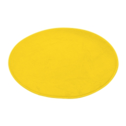 tapis de bain rond microfibre ø60cm vitamine jaune