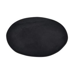 tapis de bain rond microfibre ø60cm vitamine noir