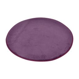 tapis de bain rond microfibre ø60cm vitamine prune