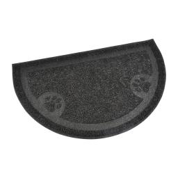 tapis de litiere pvc demi cercle pour chat l36*60cm noir