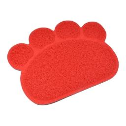 tapis de litiere pvc pattou pour chat l30*40cm rouge