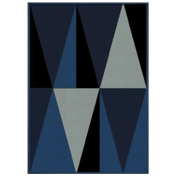 Tapis deco rectangle 120 x 170 cm tisse khaba Bleu