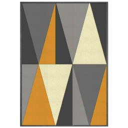 Tapis deco rectangle 120 x 170 cm tisse khaba Jaune
