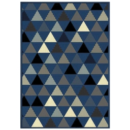 Tapis deco rectangle 120 x 170 cm tisse twini Bleu