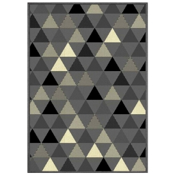 Tapis deco rectangle 120 x 170 cm tisse twini Gris