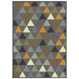 Tapis deco rectangle 120 x 170 cm tisse twini Jaune