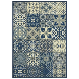 Tapis deco rectangle 120 x 170 cm tisse vigo Bleu