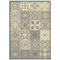 Tapis deco rectangle 120 x 170 cm tisse vigo Naturel