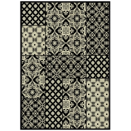 tapis deco rectangle 140 x 200 cm viscose tissee manoir