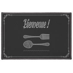 tapis deco rectangle 40 x 60 cm imprime bistronomie