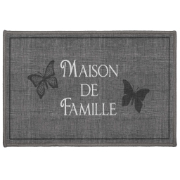 tapis deco rectangle 40 x 60 cm imprime familia