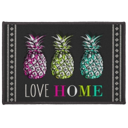 tapis deco rectangle 40 x 60 cm imprime love ananas