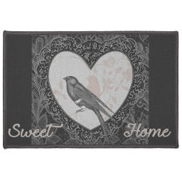 tapis deco rectangle 40 x 60 cm imprime love birds
