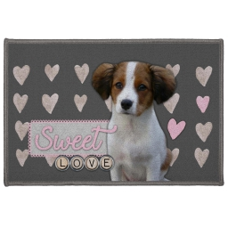 tapis deco rectangle 40 x 60 cm imprime love doggy