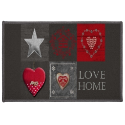 tapis deco rectangle 40 x 60 cm imprime love home