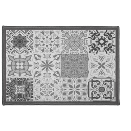 Tapis deco rectangle 40 x 60 cm imprime persane Gris