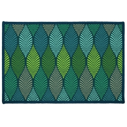 tapis deco rectangle 40 x 60 cm imprime winter green