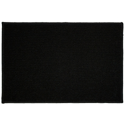 Tapis deco rectangle 40 x 60 cm uni primobis Noir