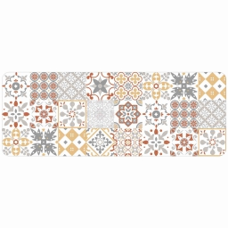 Tapis deco rectangle 45 x 120 cm mousse imprimee salou Orange