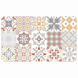Tapis deco rectangle 45 x 75 cm mousse imprimee salou Orange