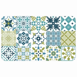 Tapis deco rectangle 45 x 75 cm mousse imprimee salou Vert