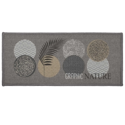tapis deco rectangle 50 x 120 cm imprime odaly graphic