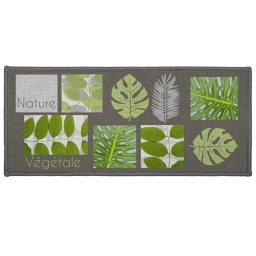 tapis deco rectangle 50 x 120 cm imprime vegetalia