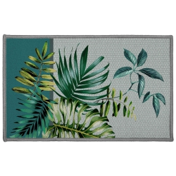 tapis deco rectangle 50 x 80 cm imprime belle feuille