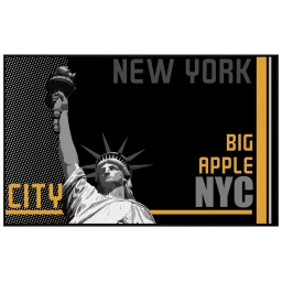 tapis deco rectangle 50 x 80 cm imprime big apple