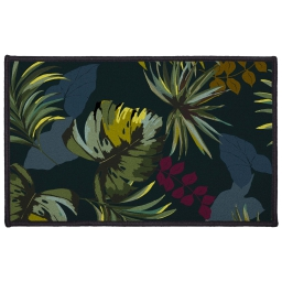 tapis deco rectangle 50 x 80 cm imprime botanica