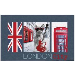 tapis deco rectangle 50 x 80 cm imprime city dog