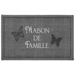 tapis deco rectangle 50 x 80 cm imprime familia