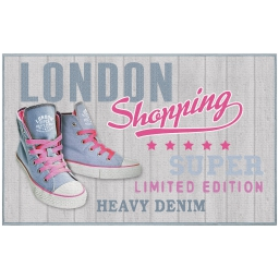 tapis deco rectangle 50 x 80 cm imprime girly london