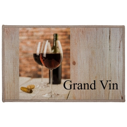 tapis deco rectangle 50 x 80 cm imprime grand vin