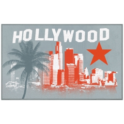 tapis deco rectangle 50 x 80 cm imprime hollywood