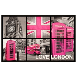tapis deco rectangle 50 x 80 cm imprime london girl