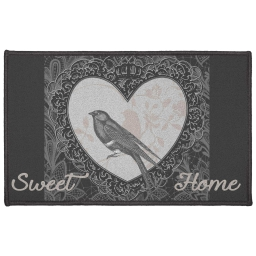 tapis deco rectangle 50 x 80 cm imprime love birds