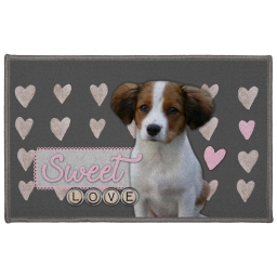 tapis deco rectangle 50 x 80 cm imprime love doggy
