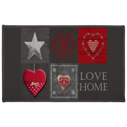 tapis deco rectangle 50 x 80 cm imprime love home