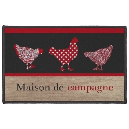 tapis deco rectangle 50 x 80 cm imprime maison de campagne