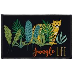 tapis deco rectangle 50 x 80 cm imprime mystic jungle