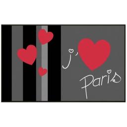 tapis deco rectangle 50 x 80 cm imprime paris coeur