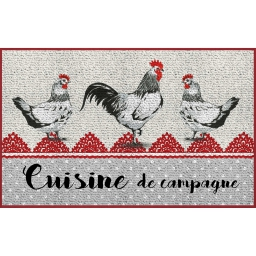 tapis deco rectangle 50 x 80 cm imprime poupoule