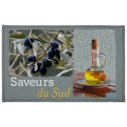 tapis deco rectangle 50 x 80 cm imprime saveurs du sud