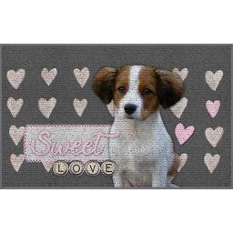 tapis deco rectangle 50 x 80 cm imprime sweet puppy