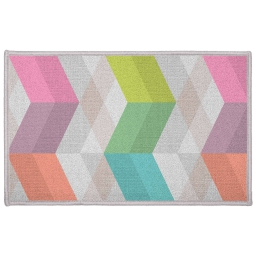 Tapis deco rectangle 50 x 80 cm imprime ultragraphic Pastel