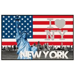 tapis deco rectangle 50 x 80 cm imprime united states