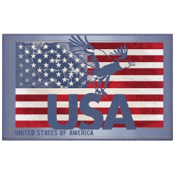 tapis deco rectangle 50 x 80 cm imprime usa eagle