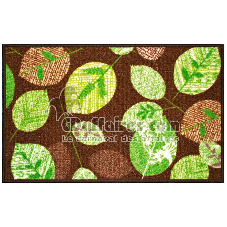 tapis deco rectangle 50 x 80 cm imprime vegetal cdaffaires. Black Bedroom Furniture Sets. Home Design Ideas