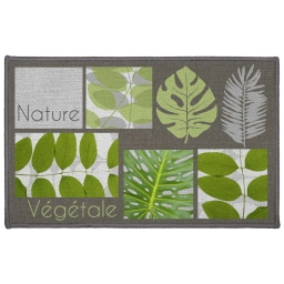 tapis deco rectangle 50 x 80 cm imprime vegetalia